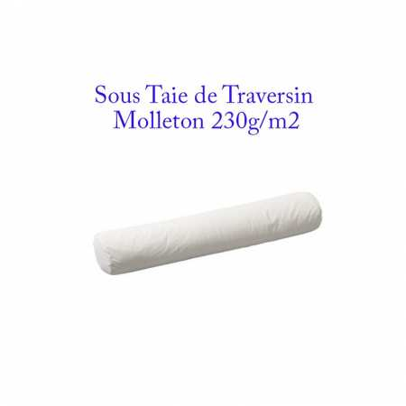 Sous Taie Traversin 90 cm de Long Molleton 230g/m2